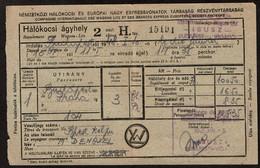 1948 - Budapest - Praha - Compagnie Internationale Des Wagons Lits / Express Européens ..voir Scan - Andere