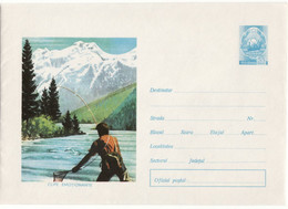Fish - Fishing -Chasse,  Uncirculated Postal Stationery Cover  Romania  1973, New Condition. Rare Cover. - Entiers Postaux