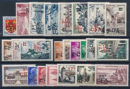 EC-273: REUNION: Lot Avec N°320/341**  (1955/1959) - Unused Stamps