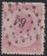 Belgie   .  OBP   .   20A    .    LP64     .     O .    Gebruikt  . / .   Oblitéré - 1865-1866 Profile Left