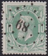 Belgie   .  OBP   .   30   .   LP89      .     O .    Gebruikt  . / .   Oblitéré - 1869-1883 Leopold II