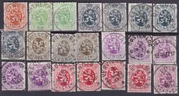 Belgie   .  OBP   .     21 Zegels   .  Stempels      .      O .    Gebruikt  . / .   Oblitéré - Used Stamps