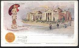 USA 1898 Official Postal Card Stationary Trans Missisippi Fine Arts Architecture Statue Flag Omaha Exposition Children - America (Other)