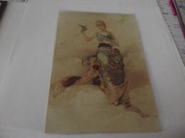 Grand Chromo Découpis Portrait De Femme 11,4 Cm Sur 17 - Sonstige