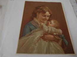 Grand Chromo Découpis Portrait De Femme 13,5 Cm Sur 18,2 - Sonstige