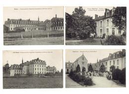 Lot 4 Cpa - 35 Rennes Communauté Augustines Hospitalières Clinique Saint Yves Pavillon Sainte Famille JARDINIER - Rennes