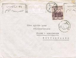 40860. Carta EL CAIRO (Egypt) 1938. Marca Censura To Germany - Covers & Documents