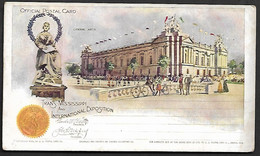 USA 1898 Official Postal Card Stationary Trans Missisippi Arts Velo Bicycle Flag Omaha Exposition Gondol Architecture - America (Other)