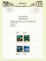 Sir Sidney Nolan Antarctica Paintings 1964, On Official Presentation Sheet With Base Davis Antarctica Stamp ** MNH ** - Polar Exploradores Y Celebridades