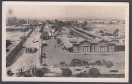 Egypt - PORT SAID, Railway Station - Real Photo Postcard - Port Said