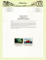 Southern Lights (Aurora Australis)  On Official Presentation Sheet With Base Davis Antarctica Stamp ** MNH ** - Estaciones Científicas