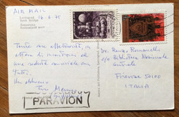 URSS - LENINGRAD - BANK BRIDGE  -  POST CARD PAR AVION  With 10+ 4 K. 16/6/75   TO FIRENZE  - ITALY - Mundo