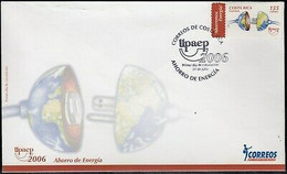 UPAEP Costa Rica 791 2006 Save Energy SPD FDC Envelope First Día - Costa Rica
