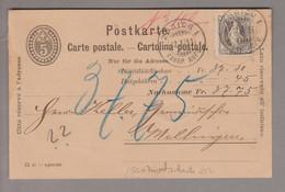 CH Stehende Helvetia 1898-11-12 Zürich1 NN-GS Mit Privatzudruck Orell Füssli + 40Rp.Stehende Zu#69D - Briefe U. Dokumente