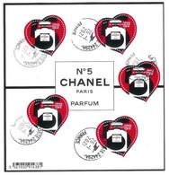 Superbe Bloc Nouveauté Coeurs Chanel 2021 Oblitérée TTB PCD Rond - Used Stamps