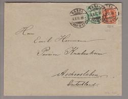 CH Stehende Helvetia 1905-10-04 Basel Brief Nach Aschersleben DE MitZu#65B+66C - Briefe U. Dokumente
