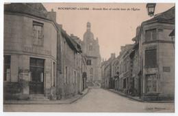 ROCHEFORT SUR LOIRE (49) : GRANDE RUE ET EGLISE - HOTEL DU LION D'OR ( BYRRH - MACAURA ) - ECRITE EN 1913 -z 2 SCANS Z- - Andere Gemeenten