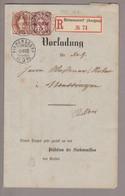 CH Heimat AG Birmenstorf 1892-08-02 Vorladung Nach Mellingen Mit Zu#60A + 68C - Briefe U. Dokumente