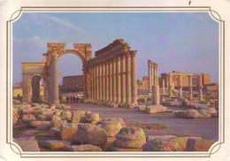Siria - Sito Archeologico Di Palmira, Straight Street. Affrancata E Viaggiata - Syria