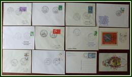 12 COLOMBE 11 Cad Entre 1962 Et 1996 + 1 CPA 1919 - Dt BT, FDC, CM,France Et Entier Suisse - Columbiformes