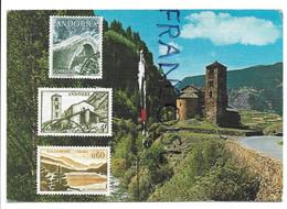 Carte Maximum (faux Timbres). Valle D'Andorra. Eglise Romane San Juan De Casselles - Andorra