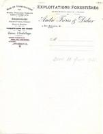 Facture 1922 / 68 SAINT AMARIN / ANDRE & DIDIER / Bois Construction, Caisses Emballages, Parquets Sapin - 1900 – 1949