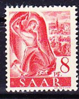 Saargebiet Saar Sarre - Hauer (MiNr: 209 Z) 1947 - Postfrisch MNH - Unused Stamps