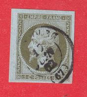 N°11 SUPERBE MARGES CAD STRASBOURG BAS RHIN - 1853-1860 Napoléon III