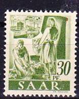 Saargebiet Saar Sarre - Bäuerin Bei Rübenernte (MiNr: 217 Z) 1947 - Postfrisch MNH - Unused Stamps
