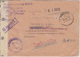 All.Bes. - München 1947 Frei D. Ablösung Zensurbrief N. Neustadt Waldnaab - American/British Zone