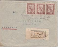 Paraguay - 3x1,50 P. Landkarte Einschreibebrief Asuncion - Berlin 1928 - Paraguay