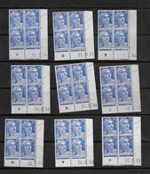 Lot  9 Coins Datés Neufs** Marianne De Gandon  Dates Différentes - 1950-1959