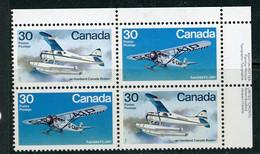 Canada MNH PB 1982 Bush Aircraft - Unused Stamps