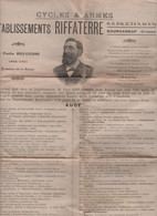 23 BOURGANEUF ETABLISSEMENTS RIFFATERRE CYCLES & ARMES - 1900 – 1949