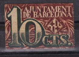 1937. AJUNTAMENT DE BARCELONA SPAIN CIVIL WAR 1937 10 CTS - Autres