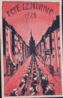 Carte Etudiant, Société Suisse De Zofingue, Fête Centrale à  1928 (14.7.1928) Trou D'épingle - Scuole