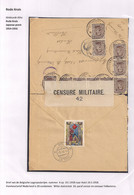 BRIEFOMSLAG LEGERPOSTERIJ NR.4 OP 19.1.1918 NAAR HULST 19.II.18-WITTE SLUITSTROOK 24 PARAF CENSOR EN CENSUUR FOLKESTONE - Andere Brieven