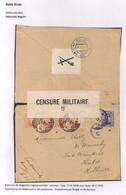 BRIEFOMSLAG VAN LEGERPOSTERIJ NR.4 OP 17.IV.1918 NAAR HULST 30.V.1918-DUBBELCENSUUR BELGIE EN NEDERLAND - Andere Brieven
