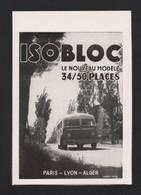 Pub Papier 1947 Bus Autocar ISOBLOC  Joseph Besset, Carrossier D'Annonay Ardèche Car Autocars - Advertising