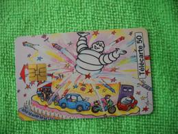 7203 Télécarte Collection BIBENDUM MICHELIN 100 Ans Gâteau Bougies Auto Moto  50 U  ( Recto Verso)  Carte Téléphonique - Personaggi