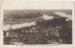 NEVERS - Vue Aérienne Sur La Loire Et Le Pont Du Chemin De Fer - Nevers