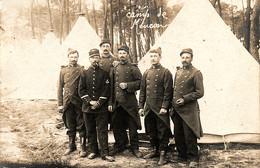 Réservistes Du 65e Régiment D'infanterie Au Camp De Meucon, 1912 - Reggimenti