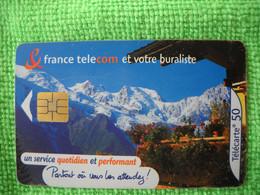 7205 Télécarte Collection France Télécom Et Votre Buraliste   Montagne  50 U  ( Recto Verso)  Carte Téléphonique - Operatori Telecom