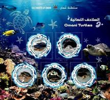 (233) Oman (Sultanate)  2019 / Animals / Turtles Sheet / Bf / Bloc Tortues / Schildkröten  ** / Mnh  Michel BL - Oman