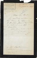 1905 Courrier M° J. BLANC / Notaire / 25 Audeux / Doubs - 1900 – 1949