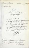 1909 Courrier M° Armand RAGUIN / Notaire / 25 Audeux / Doubs - 1900 – 1949