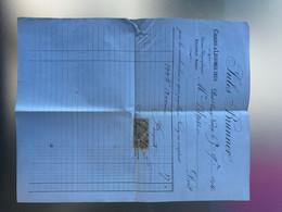 1894 Facture Avoine Jules Brunner Essey-les-NANCY Timbre 10c Quittances Reçus - 1900 – 1949