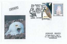 COV 68 - 253 OWL, Romania - Cover - Used - 2005 - Eulenvögel