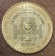 56 ÉGLISE DE TRÉHORENTEUC BROCÉLIANDE MDP 2019 MEDAILLE SOUVENIR MONNAIE DE PARIS JETON TOURISTIQUE MEDALS COINS TOKENS - 2019