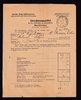 DDZ 660 - Bordereau De Quittances à Recouvrer Allemand De MALINES 1888 Par MUNSTER Westf. - Briefe U. Dokumente
